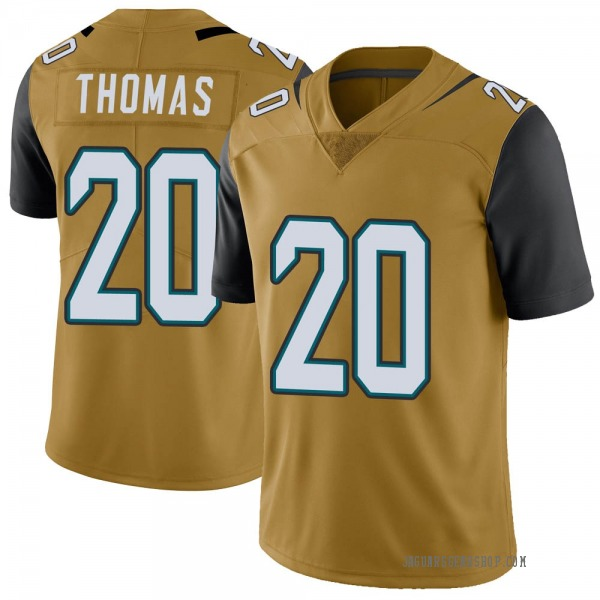 Daniel Thomas Jacksonville Jaguars Limited Gold Color Rush Vapor Untouchable Jersey